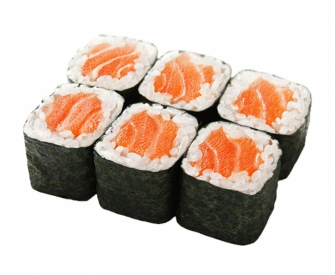 Хосомаки с копченным лососем