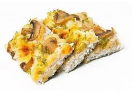 Пицца с курой и грибами